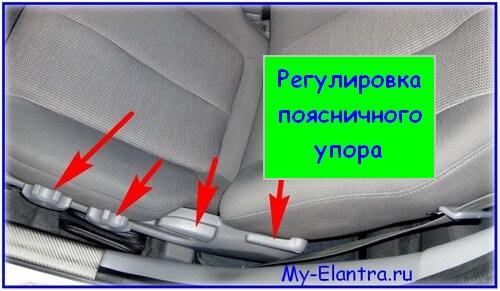 Регулировки сидений