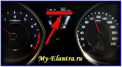 Расход топлива на Элантре МД (5)