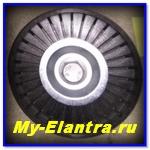 Замена ремня кондиционера на Elantra J4 (HD)
