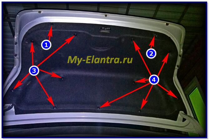 Как снять обшивку багажника