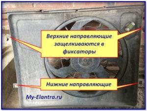 расположение точек крепления вентилятора
