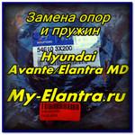 Замена опор стоек и пружин Хендай Аванте или Елантра МД
