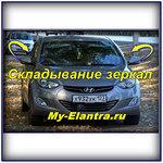 Складывание зеркал заднего вида Hyundai Avante MD