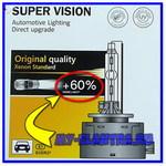 Обзор, тест и замена ксеноновых ламп на Super Vision +60% D1S